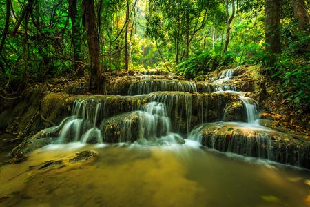 wonderful waterfall in thailand, Pugang waterfall chiangrai photo