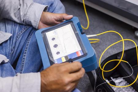 fiber optic testing Standard-Bild