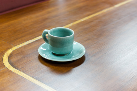 luxery: Empty tea cup in meeting room