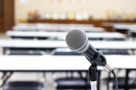 microphone in meeting  or conference room 版權商用圖片 - 40253990