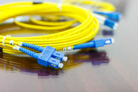 fiber optic cable for network system photo
