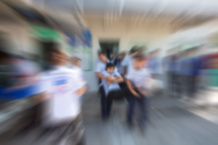 emergency first aid blurred