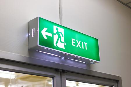 Nooduitgang licht teken