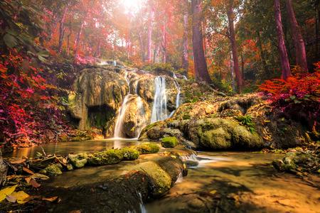 wonderful thailand: wonderful waterfall in thailand, Pugang waterfall chiangrai Stock Photo