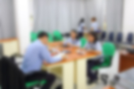 Meeting room blurred