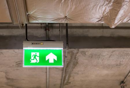 fire exit: Fire exit light sign