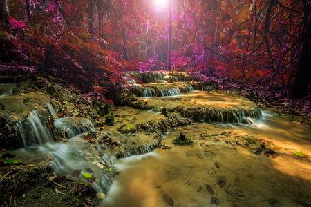 chiangrai: Wonderful waterfall in thailand Pugang waterfall chiangrai