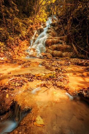 waterfall river: Wonderful waterfall in thailand Pugang waterfall chiangrai