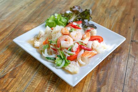 vermicelli: Thai Vermicelli Salad Stock Photo