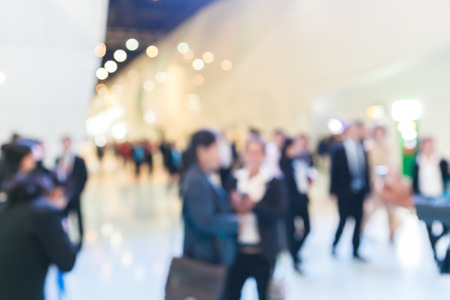 exhibitions: exhibition fair blurred Stock Photo