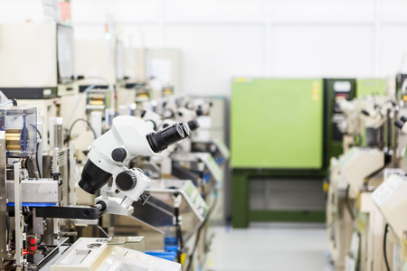 manufacturing equipment: microscope for manufacturing Stock Photo