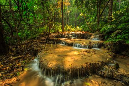 cataract waterfall: wonderful waterfall in thailand, Pugang waterfall chiangrai Stock Photo