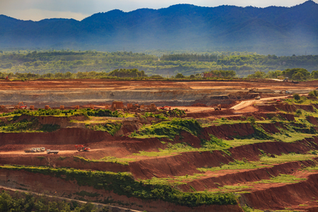 lignite: coalmine Lignite for electricity production  lampang thailand