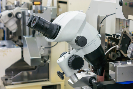 biopsy: microscope for manufacturing Stock Photo