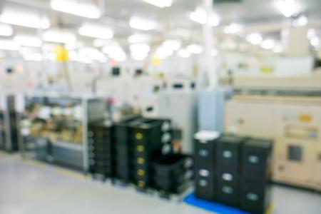 asamblea: fábrica de la fabricación borrosa Foto de archivo