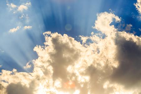 cumuli: Sunlight with cloud on blue sky Stock Photo