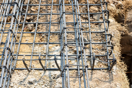 strong foundation: foundation steel for home building