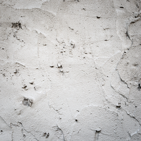 plasterwork: plaster concrete on wall of house construction Stock Photo