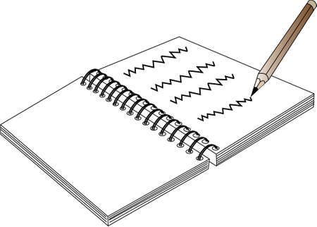 escritura  Ilustración de vector