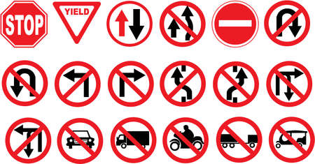 prohibition signs: traffic sign