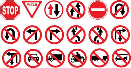 verkeers bord Vector Illustratie