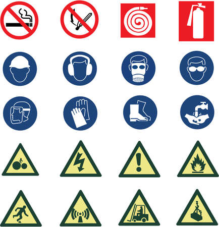environmental safety: Construction industry and office signs