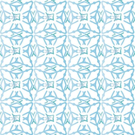 Celebrate freezing snowflakes background. Christmas print fabric wonderful wrapping surface pattern design. Blue snowflakes on light background.