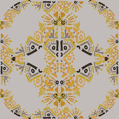 Square scarf ethnic ornate print silk.  Shawl ornament carpet.    イラスト・ベクター素材