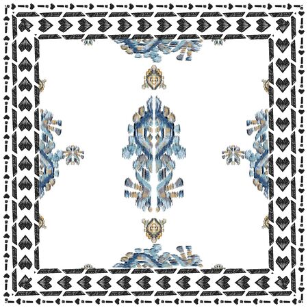 Geometric pattern etnic indian ornamental on color background. Navajo motif texture ornate  design for surface print. Home decor.