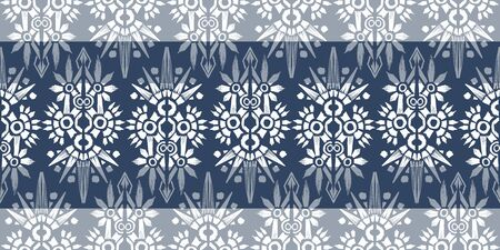 Old style ikat color etnical tribal hand - drawn pattern navajo motif for packing, wallpaper, batik. 스톡 콘텐츠