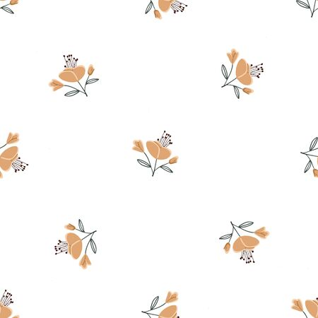 Fashionable cute pattern in native flowers. Floral seamless background for textiles, fabrics, covers, wallpapers, print, gift wrapping or any purpose
