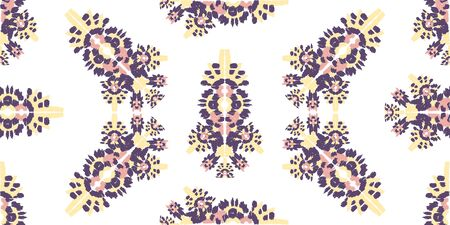 Abstract embroidery seamless ikat pattern.Tribal ethnic folk vector texture. Seamless striped pattern in original Aztec style.