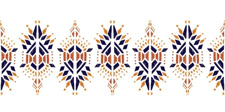 Nice nativ hand-drawn ikat background - Ethnic folk pattern. Beautiful background