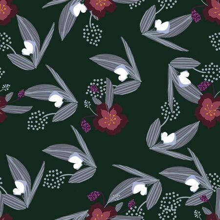 Seamless floral pattern. Flowers texture. Simplicity flower surface pattern design