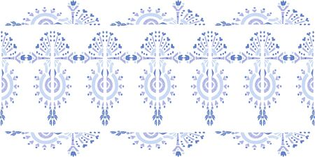 Abstract embroidery seamless ikat pattern Geometric abstract ornament background Ilustração