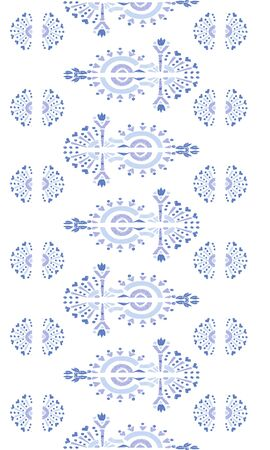 Abstract embroidery seamless ikat pattern. Tribal ethnic folk vector texture. Seamless striped pattern in original Aztec style. Ilustração