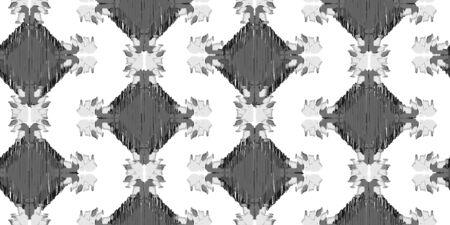 Old style ikat color ethical tribal hand - drawn pattern navajo motif for packing, wallpaper, batik Vecteurs
