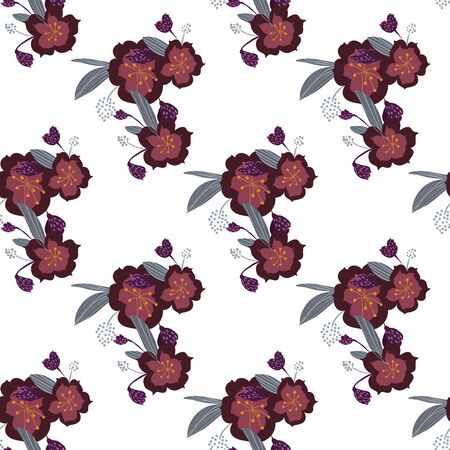 Seamless pattern in small and medium flowers. Small colorful flowers. Ditsy elegant floral background. Template for fashion prints. 向量圖像