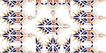 ikat color ethical tribal hand - drawn pattern navajo motif for packing, wallpaper, batik. Ikat background - Ethnic folk seamless pattern.