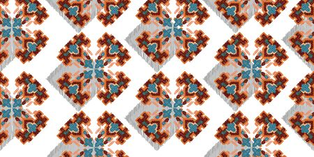Drapery curves pagan tripe seamless pattern. Indian old surface background. Vector