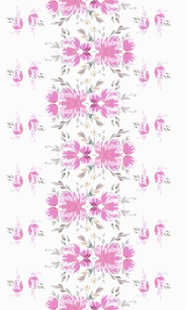 Vintage flower native pattern. Abstract ornate bohemian element. Folk american flowers. Print flower.