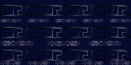 Vector luxury modern geometric seamless pattern. Grey texture with lines, stripes. Simple abstract geometry graphic design. Design for wallpapers, prints, carpet. Vettoriali