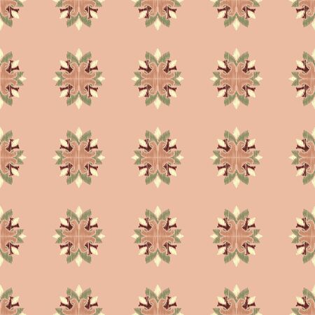 Colorful Ikat ornamentel seamless pattern for textile, wallpaper, card or wrapping paper Vettoriali