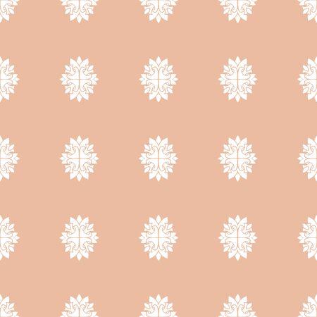 Seamless damask pastele pattern wallpaper. Vintage decor in Victorian style. Hand drawn elegant vector shabby Vettoriali