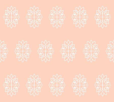 Seamless damask pastele pattern wallpaper. Vintage decor in Victorian style.