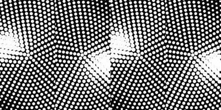 Abstract monochrome half-ton White and black texture with dots. Gradient Pop-art backdrop. Vector surface design Ilustracja