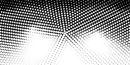 Abstract monochrome half-ton White and black texture with dots. 