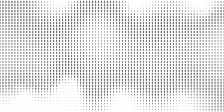 Abstract monochrome half-ton White and black texture with dots. Gradient Pop-art backdrop. Vector surface design