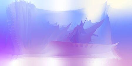 Painter blured smartphone background, swirl multicolor background, vector illustration.