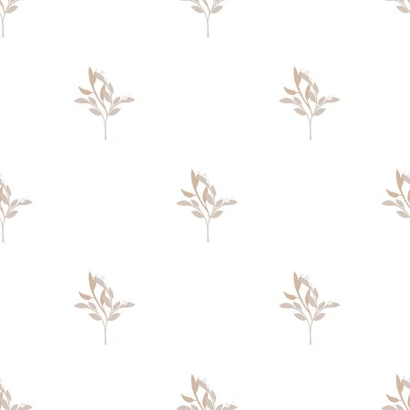 Fashionable cute pattern in native flowers on color background. Flower seamless surface design for textiles, fabrics, covers, wallpapers, print, gift wrapping or any purpose Vector Illustration